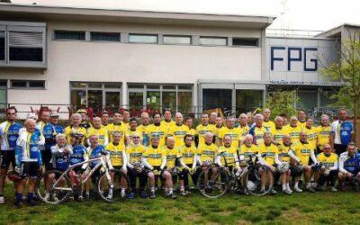 foto di gruppo ciclisti