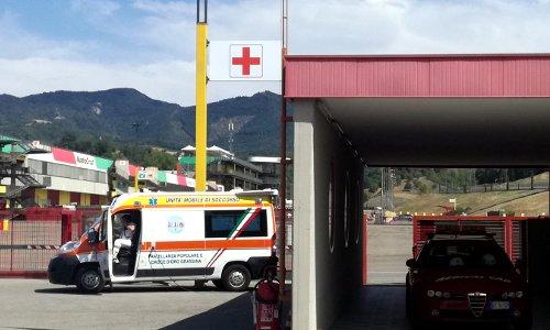 Servizio sanitario al centro medico del circuito del Mugello
