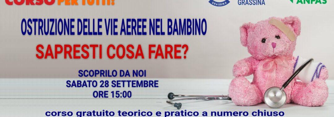 Banner promo disostruzione pediatrica